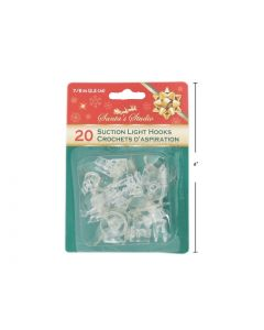 Christmas Suction Cup Light Clips - 20mm ~ 20 per pack