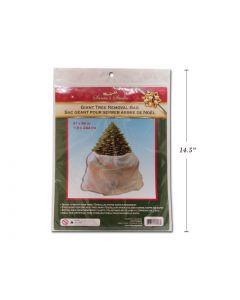 "Christmas White Giant Tree Removal Bag / Tree Skirt ~ 47"" x 96"""