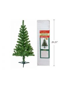 Christmas 4' Green Tree with Plastic Stand