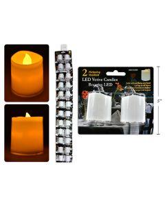 Flickering White LED Votives ~ 2 per pack