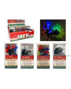 Christmas Battery Operated LED Light Set ~ 15 per string