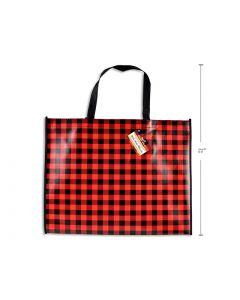 "Christmas Non-Woven Coated Bag - Buffalo Plaid ~ 18-7/8"" x 14.5"""