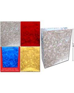 Christmas Super Jumbo Gift Bag ~ Holographic