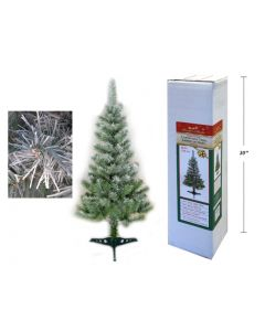 Christmas 4' Green Snow Tipped Tree with Plastic Stand