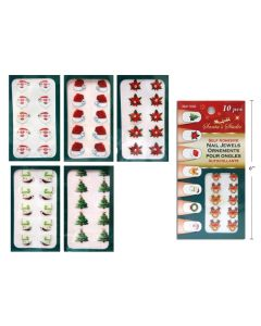 Christmas Self Adhesive Finger Nail Jewels ~ 10 per pack