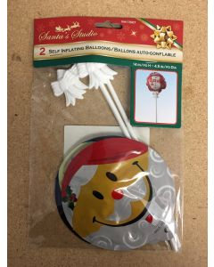 """Christmas Self Inflating Balloons - 14"""" ~ 2 per pack"""