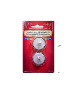 Christmas LED Color Changing Submersible Tealights ~ 2 per pack