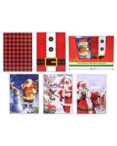 "Christmas Small Folding Gift Box - 10-5/8"" x 7-3/4"" x 1-1/8"" ~ 4/pk"