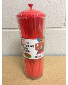 Christmas Flex-Straw in Dispenser ~ 70 pieces