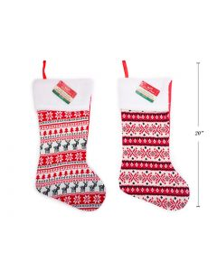 """Christmas Ugly Sweater with Wool Fold Over Cuff Stocking ~ 20""""L"""