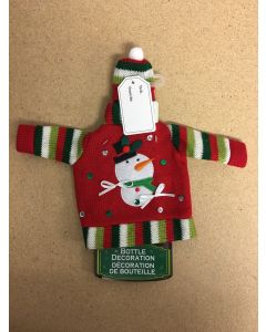 Ugly Sweater Wine Bottle Decorating Kit w/Gift Tag