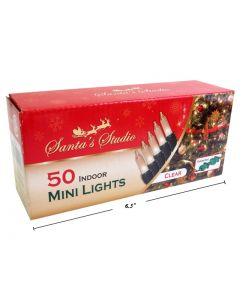 Christmas Indoor Mini Lights - End to End - Clear ~ 50 per pack
