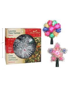 """Christmas Incandescent Lighted Indoor Tree Topper ~ 7"""""""