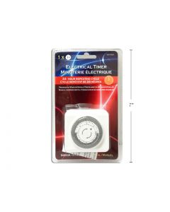 Christmas Indoor Electrical Timer ~ 24 hour repeating cycle