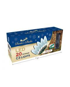 Christmas C3 LED Outdoor Lights - 20/pk ~ Cool White