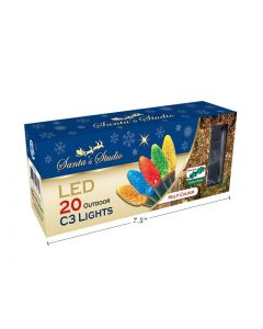 Christmas C3 LED Outdoor Lights - 20/pk ~ Multi-Color