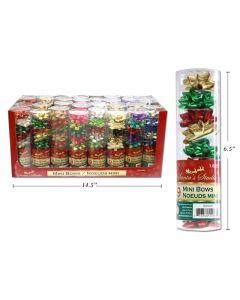 "Christmas Mini Gift Bows - 1.625"" ~ 9 per pack"