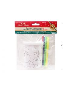 Christmas Color Your Own Cup with 4 Markers