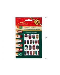 Christmas Metallic Nail Tattoos ~ 20 per pack