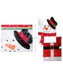 Christmas Santa Suit or Snowman Felt Chair Cover ~ 1 per pack