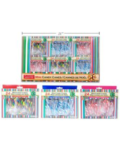 Christmas Flavored Mini Candy Canes ~ 24 per box