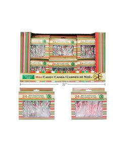 Christmas Peppermint Mini Candy Canes ~ 24 per box