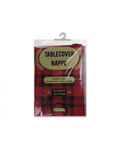 "Christmas Buffalo Plaid Flannel Back Tablecloth ~ 52"" x 70"""