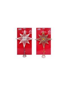 "Christmas Mini Tree Star with Glitter Tree Topper ~ 8-5/8"""