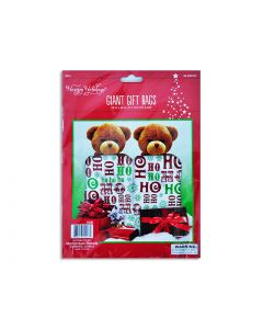 """Christmas Giant Plastic Gift Bags - 28"""" x 36"""" ~ 2 per pack"""