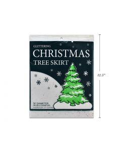 """Christmas Glittering White Snow Blanket Tree Skirt ~ 34"""""""