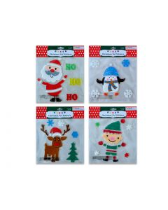 Christmas Gel Clings ~ 4 assorted