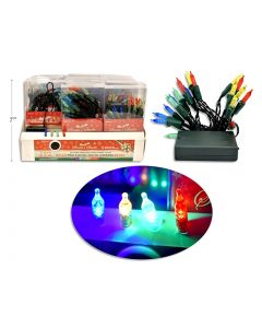Christmas Battery Operated 20-LED Mini Lights with Timer ~ Multi Color