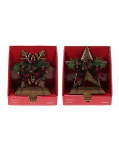 Christmas Metal Star / Snowflake Stocking Holders