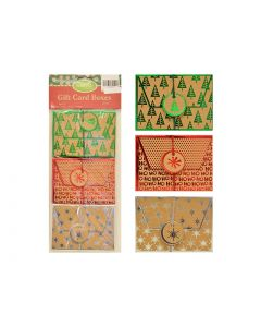 """Christmas Craft w/Foil Hotstamp Gift Card Holders - 4.5"""" w x 3.25"""" h ~ 3 per pack"""
