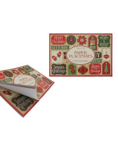 """Christmas Paper Placemats - 16-1/8"""" x 11-1/8"""" ~ 15 sheets per pack"""