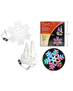 """Christmas 48-LED Silhouette Multi-Color Hanging Decoration ~ 15"""""""