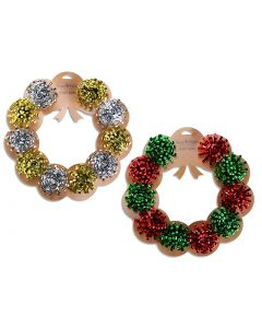 """Christmas Gift Bow Wreath - 1.75"""" ~ 10 per pack"""