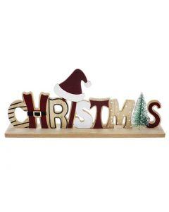 "Christmas Die-Cut Flocked Xmas Decor ~ 7.75"" (W) x 7-5/8"" (H)"