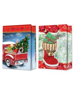 Christmas Jumbo Gift Bag ~ Truck / Boot
