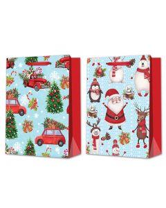 Christmas Jumbo Gift Bag ~ Cartoon Santa