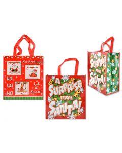 "Christmas Non-Woven Coated Bag ~ 13.75"" x 15.5"" - 7.25"" Gusset"