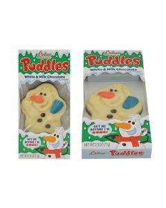 Christmas Palmer Puddles Melting Snowman - White & Milk Chocolate ~ 71 gram