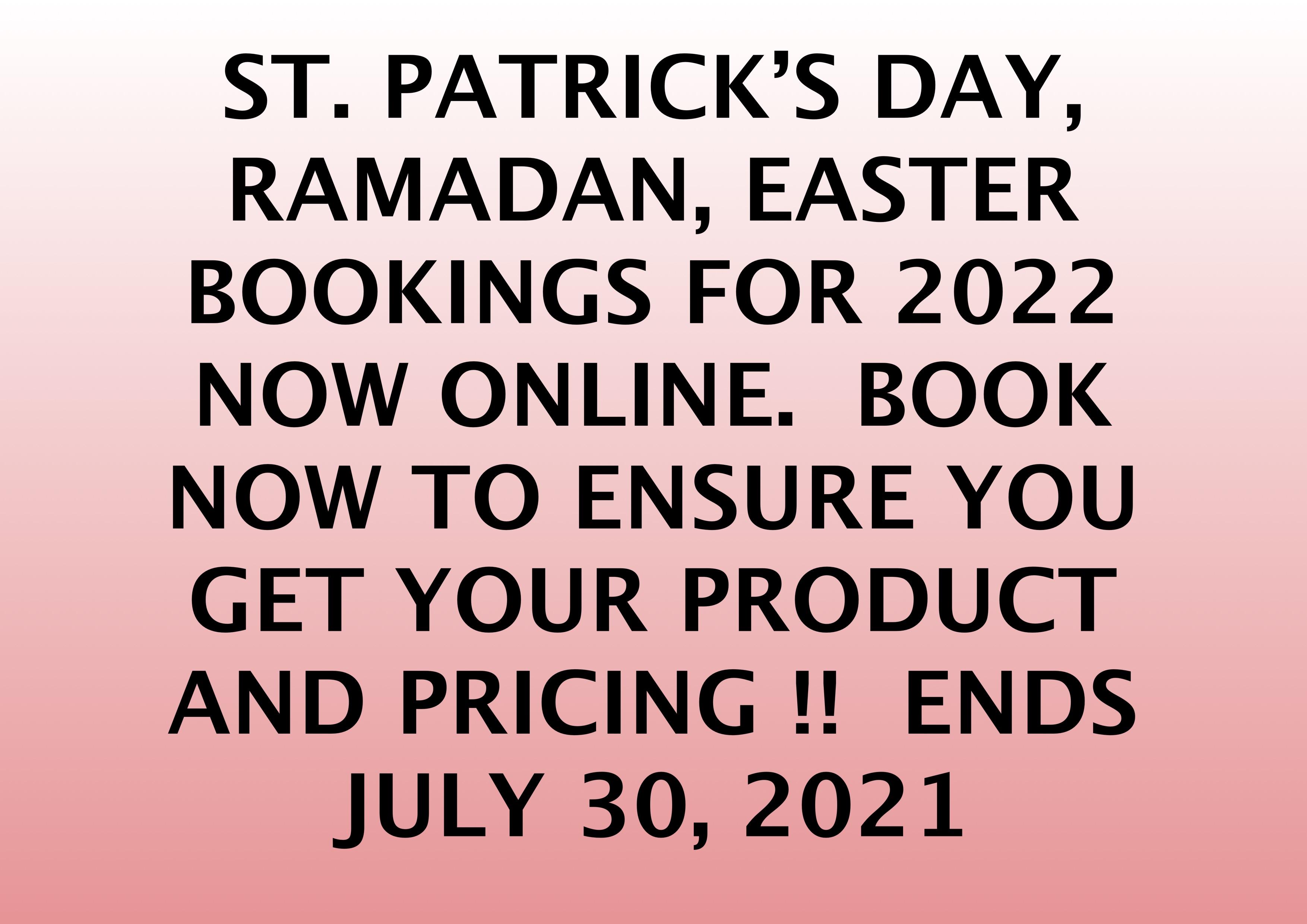 BOOKINGS 2022